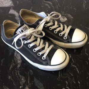 Gently worn black converse
